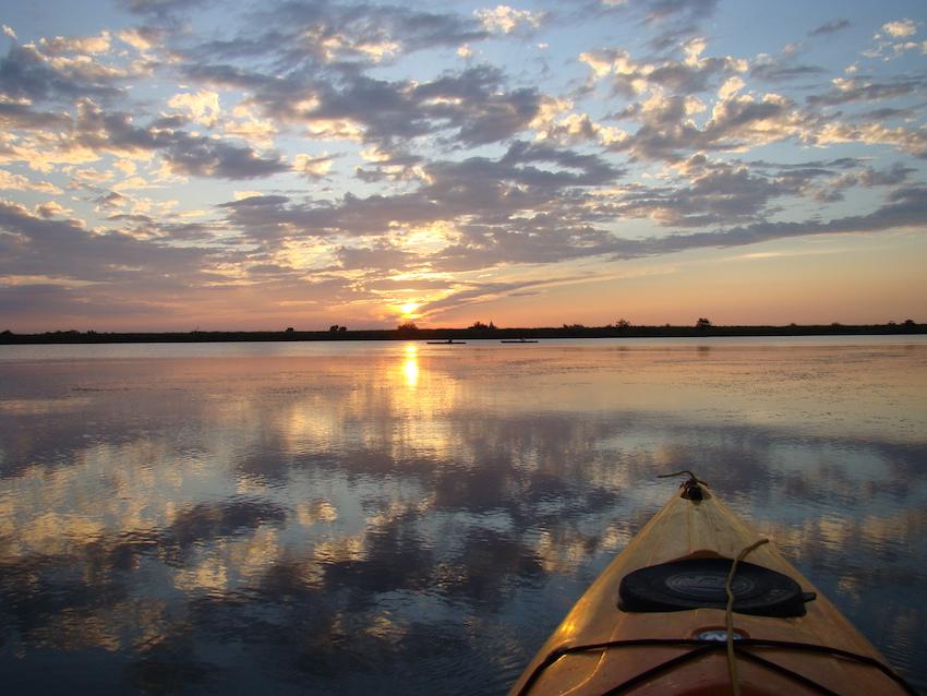 DNB kayak_sunset